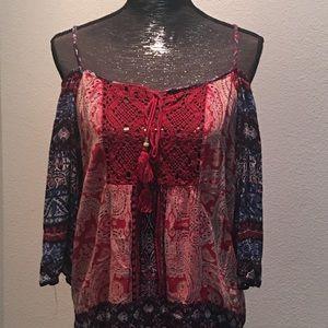 Angie boho style shirt